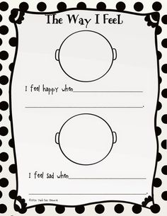 Children's place, Worksheets and Feelings on Pinterest