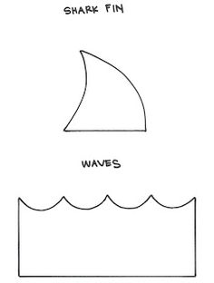 Shark pattern. Use the printable outline for crafts