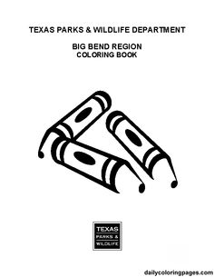 Texas big bend word search animal coloring pages