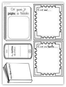 Pages de garde pour cahiers, porte-vues et classeurs