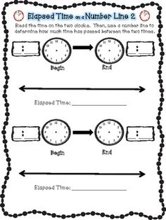 1000+ images about Math: Elapsed Time on Pinterest