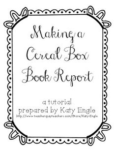 1000+ images about Cereal Box Book Report on Pinterest