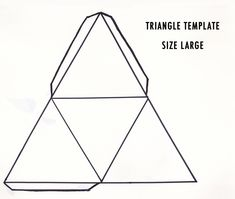 1000+ ideas about Triangle Template on Pinterest