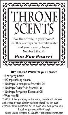 DIY Poo Poo Bathroom Spray (Printable Labels Included