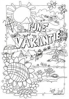 1000+ images about * ZOMER & VAKANTIE: kleurplaten! on
