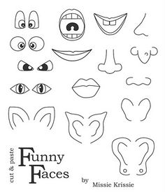 A set of helpful blank faces templates, useful for a