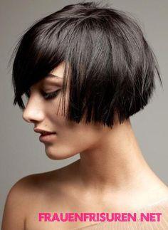 Moderne Kurze Bob Frisuren Mit Pony Haare Pinterest Haircuts