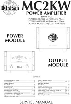 Mcintosh Mc 2200 Service Manual
