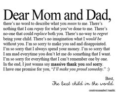 Thank You Quotes For Parents. QuotesGram