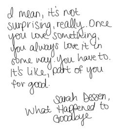 1000+ images about Sarah Dessen Quotes on Pinterest