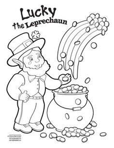 Leprechaun pattern. Use the printable outline for crafts