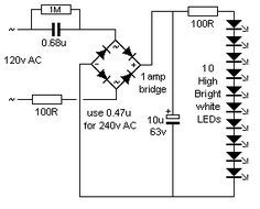 Auto Intensity Control of High Powered LED Lights Circuit