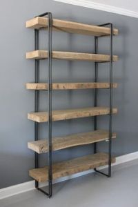 Industrial Iron Pipe Corner Shelf by EngravingEclectic on ...