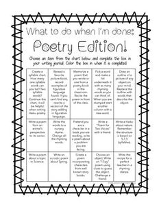 25 Types of Poetry- great list!! I might use this as a