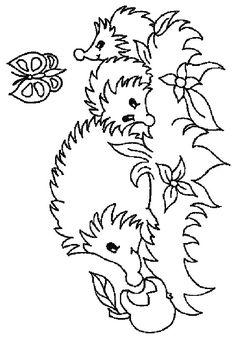 Hedgehog pattern. Use the printable outline for crafts