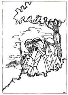 Road to Emmaus empty comic, I found this comic online, and