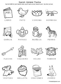 1000+ images about Printable Spanish on Pinterest
