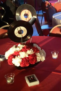 1000 images about 45 rpm decorations on Pinterest  45 records Centerpieces and Grease themed