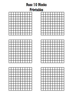 FREE blank decimal grids for tenths, hundreths