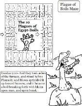 The 10 plagues of Egypt Boils Lesson with matching