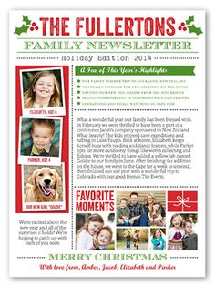 1000 Ideas About Christmas Newsletter On Pinterest