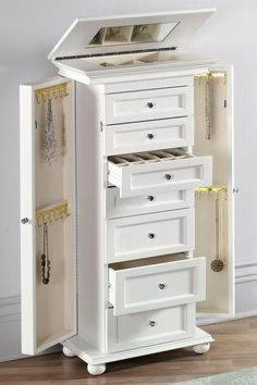 1000 ideas about Jewelry Armoire on Pinterest  Armoires Jewelry Cabinet and Mirrors