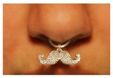 Brandy Melville Gold Faux Septum Nose Ring New From