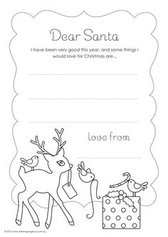 ADORABLE Printable Letter to Santa Template, this site