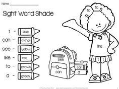 Back to School Kindergarten Language Arts No Prep