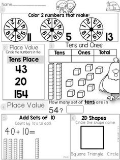 1000+ images about Kindergarten Math Resources on