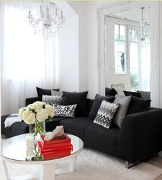 Decorating Around A Black Leather Couch Black Leather Sofas