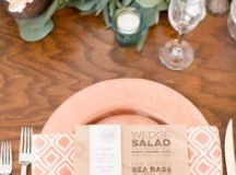 Vintage Desert Safari Wedding Menu | Vintage, King and Classy
