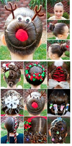 1000 Images About Girly Hair Dos Inspired By Christmas