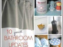 floating shelves above toilet | bathroom | Pinterest ...