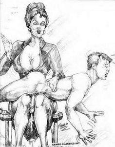 spanking art drawings
