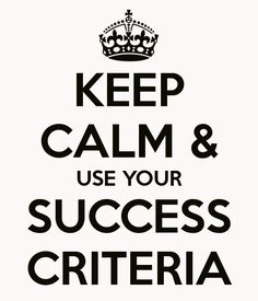 1000+ images about Success criteria on Pinterest