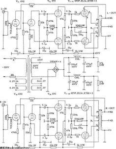 ECC802S SRPP / EL84 Push-Pull CCS Tube Amplifier Schematic