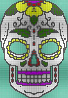 Sugar Skull Plastic Canvas Pattern Various Plastic