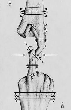 Hopi Hand. The symbol