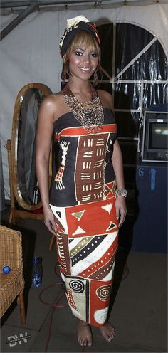 beyonce - african print - the only way is ghana
