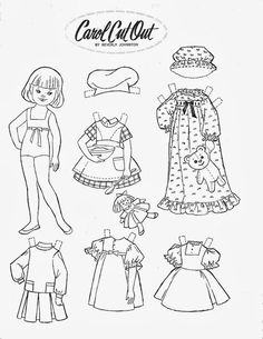 Brownie Elf Outline and Clothes for Paper Dolls from