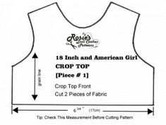 Free Doll Clothes pattern to fit Bitty Baby or medium