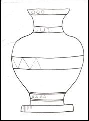 Art Projects: Free download vase template (Ancient Greece