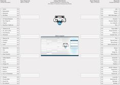 A printable bracket designed to track twelve teams in a