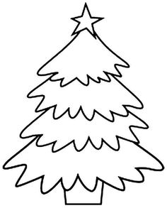 Printable large Christmas tree pattern. Use the pattern