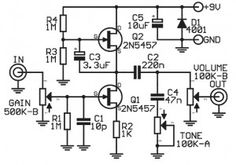 Easy pt2399 circuit. Basic guitar delay effect circuit