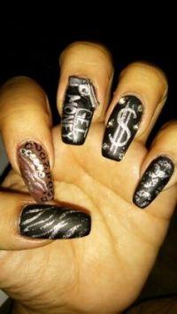 Ghetto Nails on Pinterest | Ghetto Nail Designs, Long ...