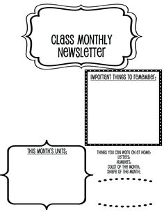 1000+ images about Preschool Newsletter Templates on