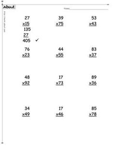 Multiplication with Decimals These worksheets start with