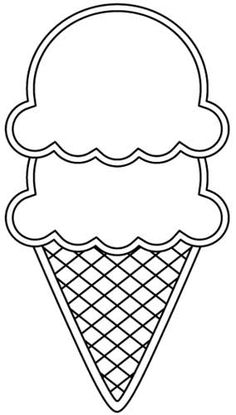 Printable ice cream cone pattern. Use the pattern for